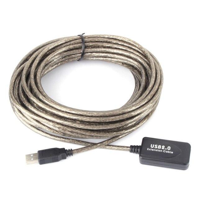 2.0 usb 5メートル/10メートル/15メートル/20メートル延長ケーブルアクティブケーブルリピータオス女性高速ワイヤーusb pcコネクタ