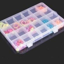 24 Slots Cells Transparent Portable Jewelry Tool Storage Box Container Ring Electronic Parts Screw Beads Organizer Plastic Box стоимость