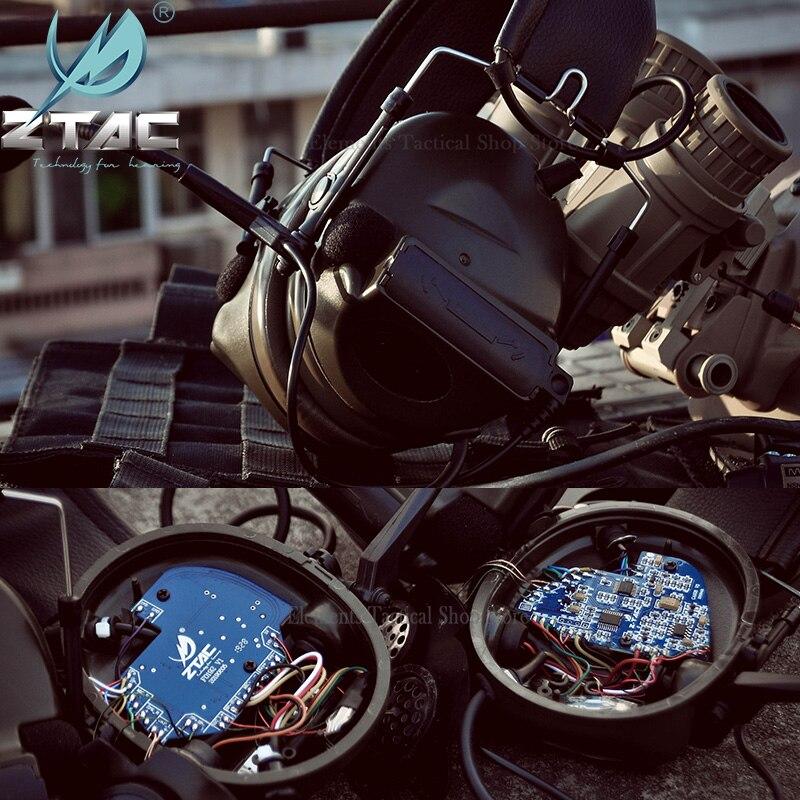 Тактическая гарнитура Z TAC для охоты Comtac II 6th Circuit Board 2020 версия 2 режима шумоподавление тактическая гарнитура Softair-4