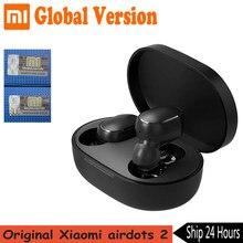 Global Version Xiaomi Redmi Airdots 2 Wireless TWS Bluetooth 5.0 Earphone Mi True Wireless Earbuds Basic 2 Auto Link TWSEJ061LS