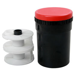 Compact Film Developing Tank 2 Spiral Reel For Processing 120 135 127 Darkroom