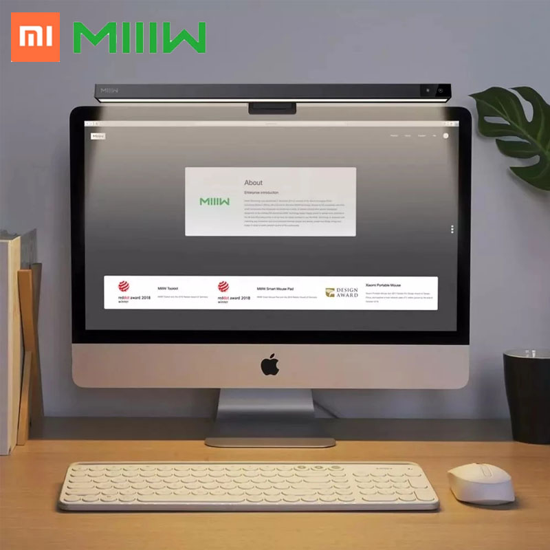 Xiaomi conduziu a lâmpada de mesa regulável escritório computador screenbar olho-cuidado lâmpada de mesa para estudo monitor de tela de leitura pendurado barra de luz