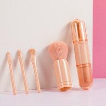 Gag yay rotação portátil cosméticos sombra de olho lábio gloss corretivo conveniente pincéis maquiagem ajustável 4 em 1 feminino ferramentas de viagem