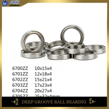 цена на 6700ZZ 6701ZZ 6702ZZ 6703ZZ 6704ZZ 6705ZZ Bearing ABEC-1 ( 10 PCS )  Slim Thin Section Deep Groove Ball Bearings bicycle bearing