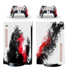 النفوس المظلمة نمط PS5 الرقمية طبعة الجلد ملصقا ل بلاي ستيشن 5 وحدة و 2 تحكم صائق الفينيل واقية جلود نمط 9