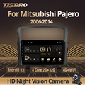 Автомагнитола TIEBRO для Mitsubishi Pajero 4 V80 V90 2006-2014, мультимедийный видеоплеер, навигатор GPS, Android 9,0, 2din, разъем 2 Din, DVD