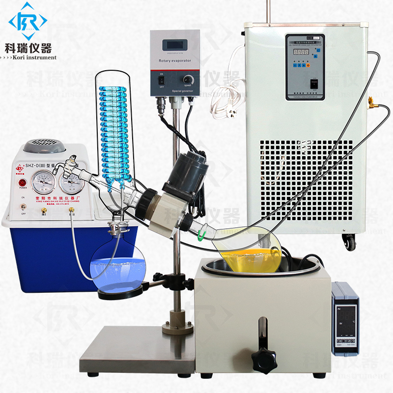 Lab-scale 3L Vacuum Rotary Evaporator With Rotary & Receiving Flask