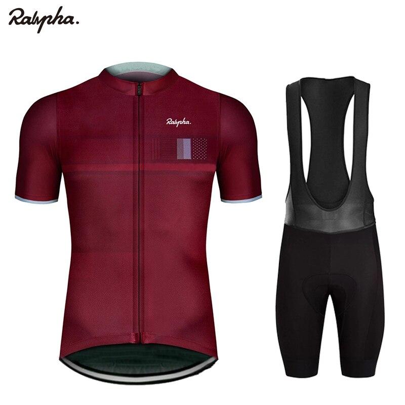 Новинка 2021, черные велосипедные командные костюмы Ralvpha Pro с коротким рукавом для езды на велосипеде, мужские велосипедные костюмы, летняя ды...