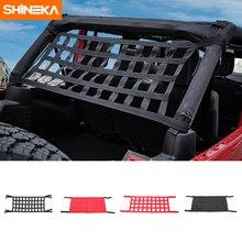 Shineka rede de armazenamento para telhado, à prova dágua, rede para descanso de cama, jeep wrangler tj jk jku jl 1997 2019 exterior acessórios