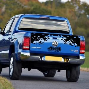 Image 5 - Für Volkswagen Amarok 4X4 OFF ROAD Styling Berg Grahpics Vinyl Aufkleber Auto Schwanz Streifen Pickup Stamm Auto Hinten dekor Aufkleber