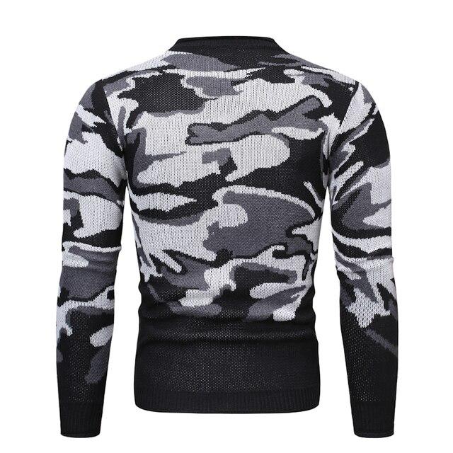 MarKyi-pull en tricot pour hommes, à manches longues, imprimé crâne, hiver, 2020