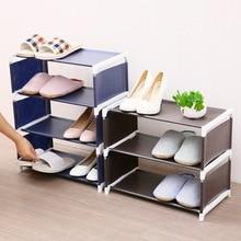Non-woven Storage Shoe Rack Hallway Cabinet Adjustable Organizer Holder Removable Door Shoe Storage Shelf DIY Easy To Install