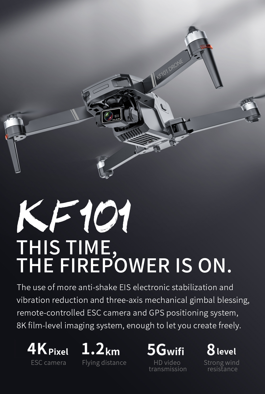 Hb6099704721344d2a8f91f298c7eb6f5f - New KF101 GPS Drone 4K Professional 8K HD EIS Camera Anti-Shake 3-Axis Gimbal 5G Wifi Brushless Motor RC Foldable Quadcopter