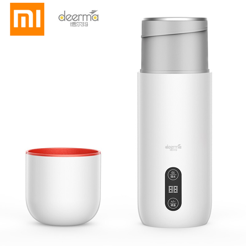Xiaomi Mijia Deerma Portable Electric Water Cup 350ml Thermos Stew Cup Temperature Display Smart Touch Control Insulation Pot