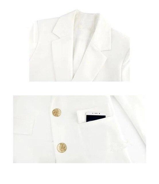 Free Shipping Fashion Spring Autumn New White Blazer Women Jacket Work Wear Slim Suit Coats White Student Wear Clohtes  4
