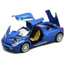 Pagani Huayra אוסף Diecast מודל בקנה מידה כמו בנים/ילדים מתכת מתנה עם דלתות פתיח למשוך בחזרה צעצועי רכב פונקציה