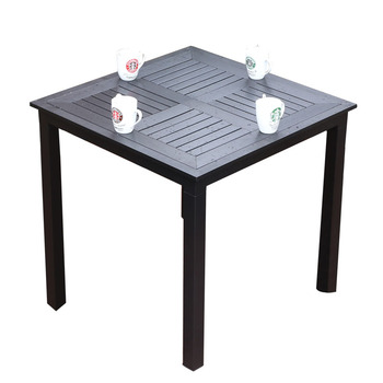 Outdoor table patio open-air balcony table coffee outdoor leisure aluminum table plastic wood anti-corrosion wood garden table