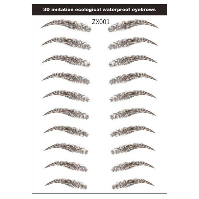 9 Style 4D Eyebrow Stickers Semi-permanent Tattoo Eyebrow Waterproof Lasting water transfer imitation bionic brow stickers TSLM1 4