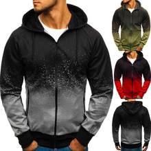Sudadera con capucha para hombre, de marca a la moda, de Color degraddado, ropa informal para primavera y otoo, 2021