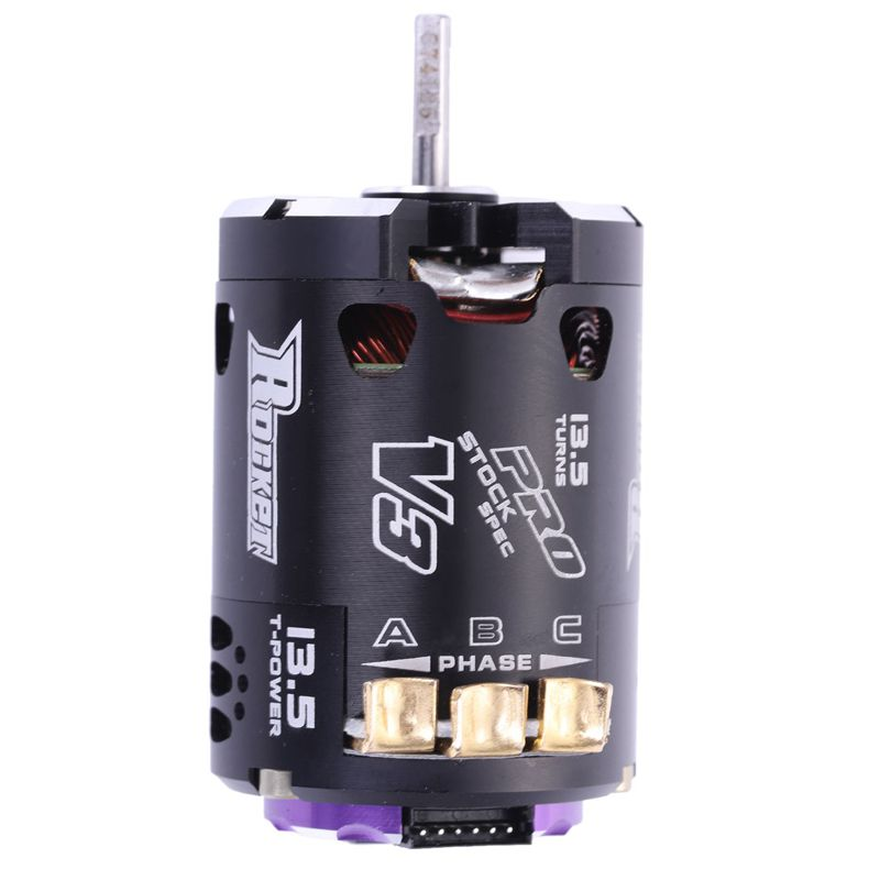 SURPASS HOBBY V3 540 13.5T Sensored SPEC <font><b>RC</b></font> Brushless Motor for 1/10 <font><b>RC</b></font> <font><b>Racing</b></font> <font><b>Car</b></font> <font><b>Truck</b></font> <font><b>RC</b></font> <font><b>Car</b></font> Parts Accessories Purple black image