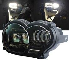 Dla bmw r1200gs reflektor Led motocykl światło do BMW R1200GS R 1200 GS ADV R1200GS LC 2004 2012 ( fit chłodnica oleju)