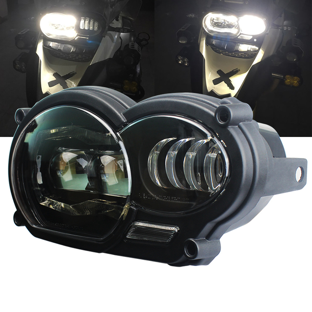 For bmw r1200gs headlight Led Motorcycle light for BMW R1200GS R 1200 GS ADV R1200GS LC 2004 2012 ( fit Oil Cooler)