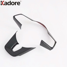 Car Steering Wheel Decoration Cover Trim Frame Sticker For Kia Forte K3 2019 2020 Carbon Fiber Car Interior Accessories