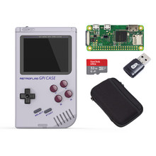 Retroflag GPi CASE Game Console for Raspberry Pi Zero&Zero W with Safe Shutdown Handheld Video Consoles Pre install 7000 Games