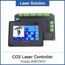 Co2レーザーdspコントローラシステムtrocen AWC7813交換708s 708C liteのCo2レーザー彫刻と切断機