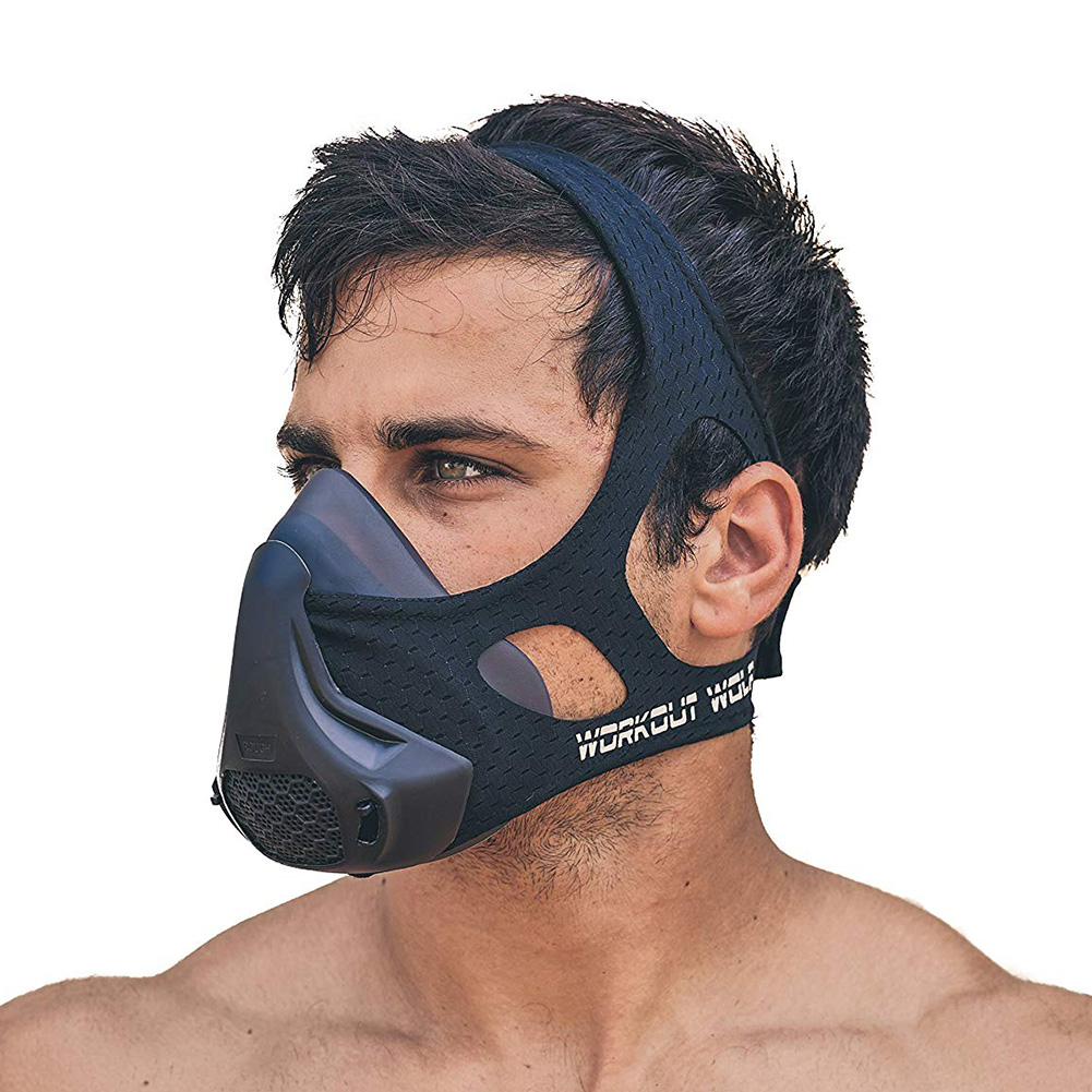 Professional Simulate Altitude Sport Mask Air Breathing Muscle Control Workout Running Fitness Mask With 24 Resistance Levels