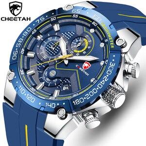 CHEETAH-relojes de marca de lujo para hombre, reloj Masculino de pulsera de cuarzo resistente al agua, con cronógrafo deportivo