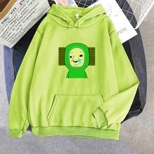 Green Brush Hoodies Women Aesthetic Oversized Baby Brush Print Hoodie Harajuku Sweatshirts Female Unisex Long Sleeve Clothes 1G