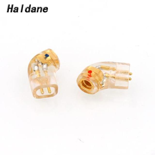 Haldane زوج مطلية بالذهب QDC سماعة التوصيل ل QDC ذكر إلى MMCX 0.78 مللي متر أنثى محول محول
