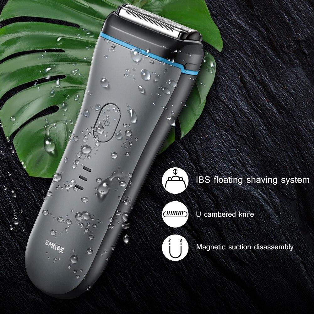 Original Xiaomi SMATE st-w382 rasoirs électriques Portable forte puissance étanche hommes rasoir électrique tête de coupe magnétique