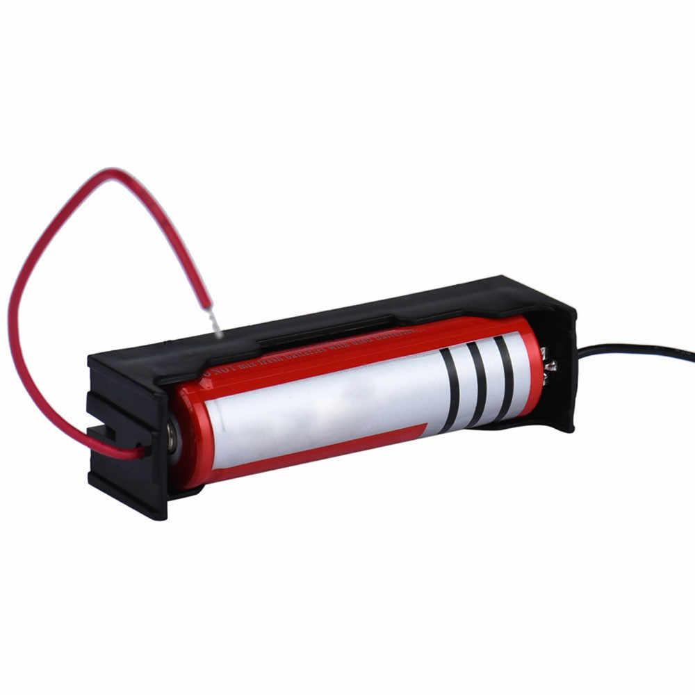 Titular da caixa para 1x18650 caixa diy power bank 18650 bateria titular caixa circuito preto com fio leva caso de armazenamento de bateria de plástico