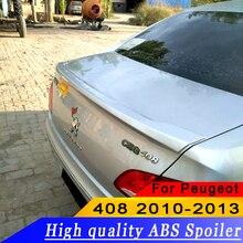 For Peugeot 408 2010 2011 2012 2013 High quality ABS material rear wing spoiler primer or DIY color 408 rear spoiler