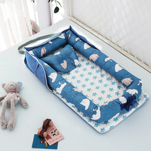 Cotton-Bed Cradle Newborn-Baby with Pillow Cushion Safe Bumper-Bed Portable for Boy Girl