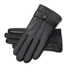 Motorcycle Gloves Goat Leather Moto Gloves Windproof Thermal Fleece Lined Winter Warm Men Touch Screen Motorbike Riding Gloves(China)