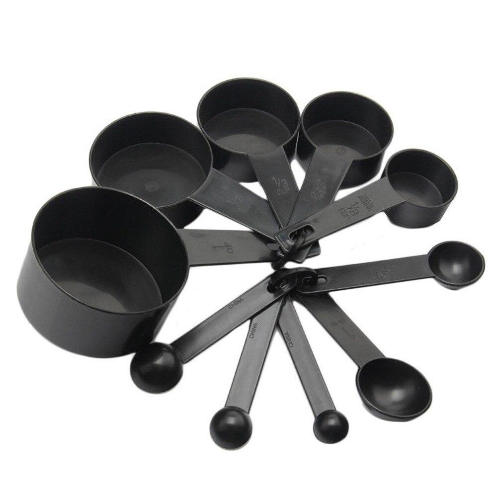 Cucharas de medir de cocina, 5/10 Uds., cucharas de café, cucharada de azúcar, pastel, tazas medidoras de harina para hornear, utensilios de cocina 2021
