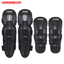 цена на HEROBIKER Motorcycle Elbow & Knee Pads Motocross Protective Gear Set Unisex Motorcycle Kneepad Riding Knee Protector Guards