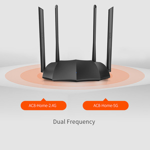 Image 3 - Tenda Router AC8 Gigabit Version 2.4GHz 5GHz WiFi 1167Mbps WiFi Repeater 128MB DDR3 High Gain 4 Antennas Network Extender