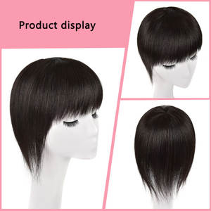 Topper Human-Hair Black Toupee-Suppliers Natural Remy Machine-Made Long Wholesale Manufacturers