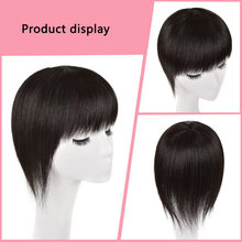 Remy human hair toupee topper wholesale machine-made human hair toupee suppliers manufacturers natural black toupee long(China)