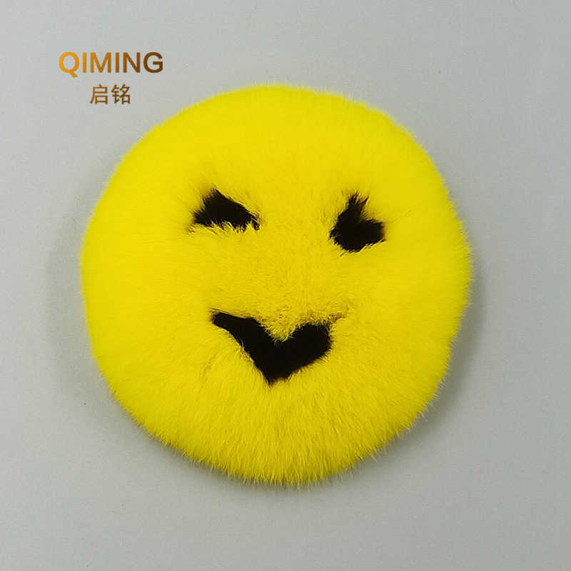 Accessories Clothing Decoration Rex Rabbit Fur Grass Smiley 10cm Shoes Hat Pants Scarf DIY Jewelry