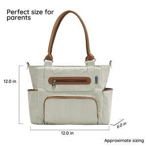 Image 5 - おむつバッグ 7 枚セットおむつトートバッグ大容量のためのママパパとベビーカー