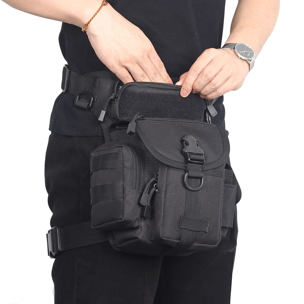Tactical Waist Pack Phone Pouch Leg Bag Belt Military Hiking Riding Outdoor Pack