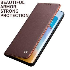 Image 4 - Carteira de telefone caso flip capa para huawei p40 p40pro couro genuíno saco do telefone casos negócios capas para huawei p40 pro capa