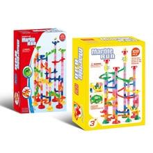 Conjunto de corrida de mármore, 105/109 peças, diy, blocos de construção de ferrovia, labirinto 3d, bolas labirinto, pista, labirinto, crianças brinquedos do presente