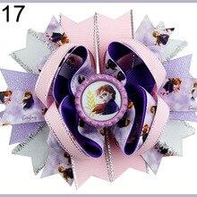 60 шт Принцесса банты для волос Эльза девочка заколки Олаф снеговик аксессуары для волос для малышей