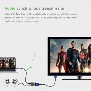 Image 5 - חם 1080P HDMI ל vga כבל ממיר עם אודיו נקבה לזכר כבלי מתאמים עבור HDTV מקרנים צג עבור PS3